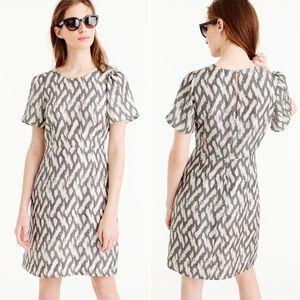 J. Crew | Ikat Print Silk Flutter Sleeve Dress